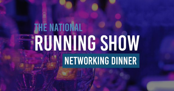 national running show networking dinner logo